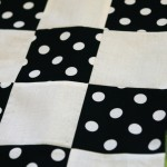 Checkers Picnic Quilt in Progress