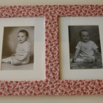 Old Frame Makeover Using Fabric