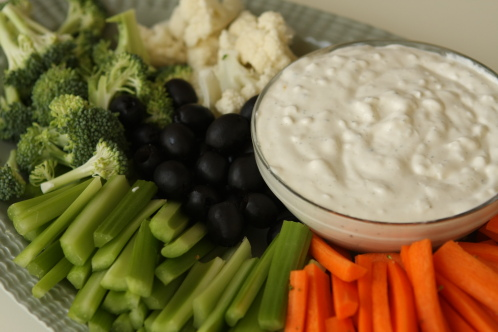 Kathyu0027s Vegetable Ranch Dip: 1 Pint Cottage Cheese