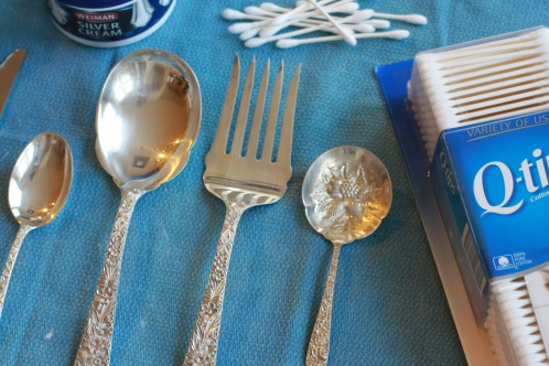 How to use Q-tips to polish Silverware