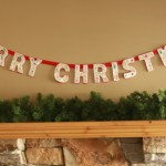 Old New Merry Christmas Garland
