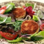 Fried Goat Cheese Medallions for a Salad