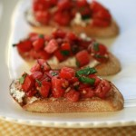 Tomato, Basil and Goat Cheese Bruschetta