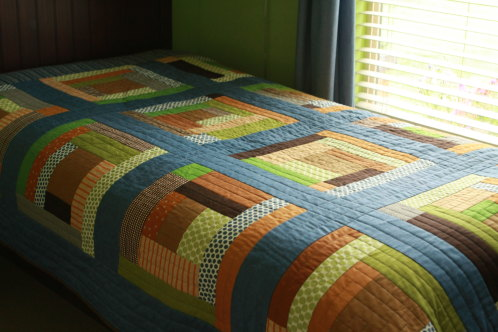 Gees Bend Inspired Boys Room Quilt
