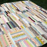Strip Quilt from Scraps